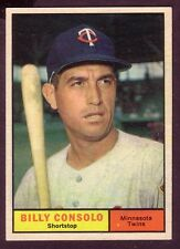 1961 TOPPS BILLY CONSOLO CARD NO:504 BC24 NEAR MINT CONDITION