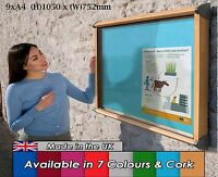 Outdoor Exterior Weatherproof Lockable Notice Board Showcase 9xA4, Oak effect
