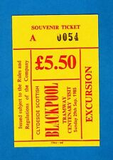 Souvenir Bus Ticket ~ Clydeside Scottish - Blackpool Tramway Excursion - 1985