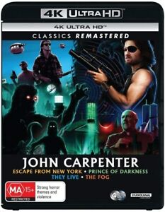 JOHN CARPENTER [4K UHD] Escape From New York They Live Fog Prince Of Darkness