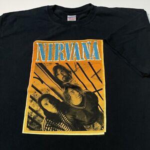 Nirvana Band T Shirt Mens XL Adult Black Rock Music Kurt Cobain 2006 Retro VTG