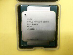SR204 INTEL XEON PROCESSOR E5-2643V3 3.40GHZ 20M 6 CORES 8GT/s 135W CPU