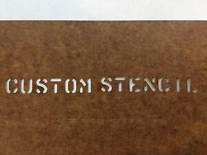 "U.S Military CUSTOM MADE Oil board Stencil US Army USMC Marsh 1"" 1/2"" & 1/4"" USN"
