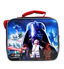BLACK Personalised Lego Star Wars Style Black Insulated  Lunch Bag 24CM X 18CM