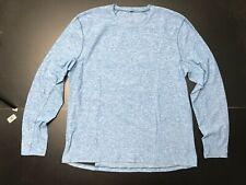 Lululemon Ls Blue Stone Classic Activewear Mens Shirt Size: Large