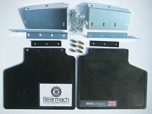 Land Rover, Range Rover Classic Front Mudflap kit + Brackets & Fixings, BA 201