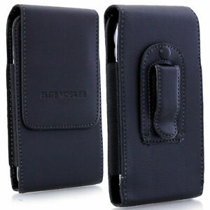 PU Leather Magnetic Flip Belt Clip Hip Case Pouch Holster For Mobile Phones