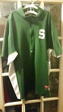 Michigan State Spartans Nike 1/2 Zip Warm Up Shooting Jersey Shirt Adult X-Large