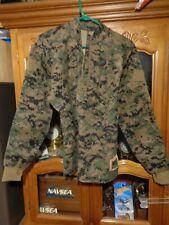 USMC WOODLAND FROG MARPAT IWCS INCLEMENT WEATHER COMBAT SHIRT SMALL REGULAR NWOT
