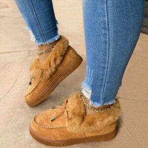 NEW Women Winter Cotton Shoes Plush Warm Snow Boots Ladies Casual Flat