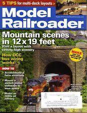Model Railroader August 2012 Mountain scenes in 12x19 feet