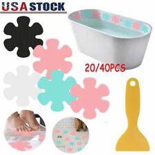 20/40x Non-Slip Flower Safety Treads Applique Sticker Mat Bath Strips Tub Shower