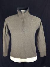 THE NORTH FACE mens Wool Blend 1/4 Zip Fleece Jacket Sz Small / Medium