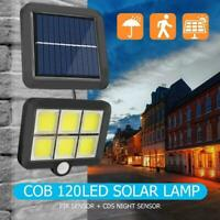 120LED COB Solar Motion Sensor Wall Light Outdoor Waterproof Garden Lamp Great