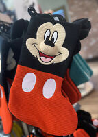 """Disney Parks Holiday 2020 MICKEY MOUSE Cozy Knitted Christmas Stocking 19"""" NWT"""