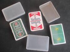3 Reklame-Kartenspiele, davon 2x unbenutzt und eingeschweißt, 3 Etuis !!!