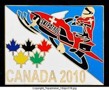 LAPEL PIN 2010 VANCOUVER CANADA SKI PATROL SNOWMOBILE G