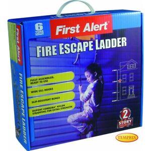 Temprix Rettungsleiter & Notleiter  Sicherheitsleiter 2 Etagen  Feuerleiter 4,3m