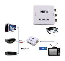 ADAPTADOR CONVERTIDOR VÍDEO HDMI A AV RCA INTERFAZ HDMI 2 AV ANALÓGICO