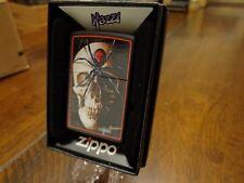 MAZZI SKULL AND SPIDER ZIPPO LIGHTER MINT IN BOX