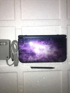 Nintendo New 3DS XL Galaxy Game System Purple Used Handheld Console #A8