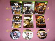3x XBox _Rainbow Six 3 & Tom Clancy's Ghost Recon & Without Warning_Erstausgaben