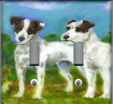 Jack Russell Terrier Dogs Home Wall Decor Double Light Switch Plate Cover