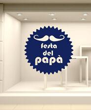 VFP0319 Vetrofania per la Festa del papà 80x80 cm Decorazioni adesive vetrina