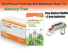 60 ZeniPower MF Hearing Aid Batteries Size 13 + Free Keychain/2 Extra Batteries