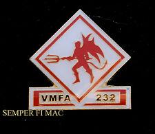 VMFA-232 RED DEVILS F18 F8 F4 US MARINES HAT PIN MCAS MIRAMAR MAG-11 3D MAW WOW