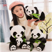 joli dessin oreiller panda en peluche. des animaux en peluche présent poupée