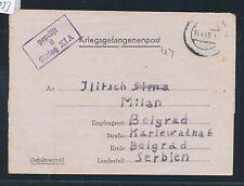03053) KRIEGSGEFANGENENPOST STALAG XI A vieux. Grabow > Serbie 1943