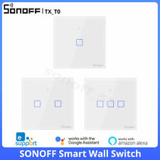 SONOFF T0 EU Smart Wifi Wall Touch Light Lamp Switch Glass APP Remote Control