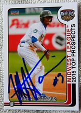 Milwaulkee Brewers Monte Harrison 2015 MWL Top Prospect Auto Timber Rattlers