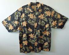 "MONTAGO Silk VintageHawaiian shirt  UK XL US L 48"" 122 cm chest HC49"