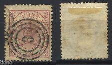 "Denmark 1864, Mi 12A 3Sk CDS Numeral 3 ""K.D.O.P.A. Lübeck K. Dæn. post"""