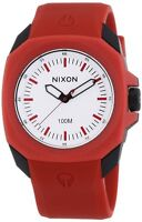 Nixon White Dial Polycarbonate Polyurethane Quartz Mens Watch A349-209