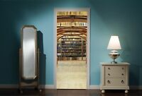 Door Mural Library Books View Wall Stickers Decal Wallpaper 47