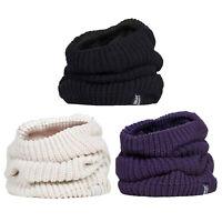 Heat Holders Womens Winter Thick Heat Weaver Neck Warmer Scarf 3.4 Tog Purple
