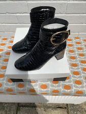 Kurt Geiger Black Patent Boots Size 4