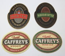 Coasters Lot Of 4 Beer Assorted Brewmania Marston's, Caffrey's Collectable