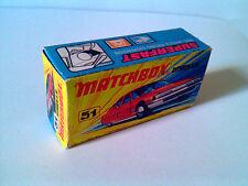 Boîte copie repro MATCHBOX Superfast N° 51 citroen SM ( reproduction box vide )