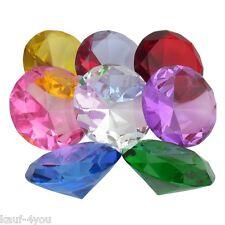 8 cm 10 cm 12 cm Glasdiamanten Dekoration Deko Steine Glas Diamant Dekosteine