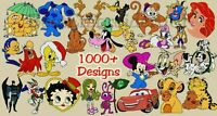MACHINE EMBROIDERY DESIGNS - OVER 1010 DISNEY CARTOON DESIGNS- PES HUS DST JEF