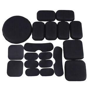 19Pcs Airsoft Tactical Military Helmet Padding Replacement EVA Foam Pads Black