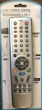 6-in-1 Remote Control For TV, VCR, CD Player And More!
