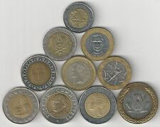 10 BI-METAL COINS from 10 DIFFERENT COUNTRIES (ARGENTINA to VENEZUELA) - Lot #4