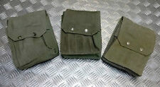 Genuine Vintage French Military M49 Magazine Canvas Ammo Pouch / Holder 1960`s