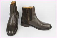 Bottines Boots ANDRE Cuir et Daim Marron T 47 TBE