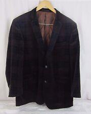 Ben Sherman Mens Velvet  Blazer Size 44R Deep Navy Purple Tailored by Nordstrom